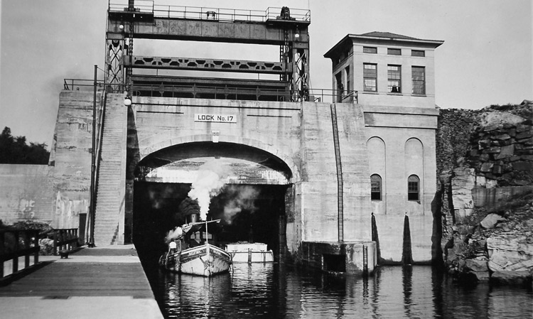 Lock 17, Little Falls, 1921